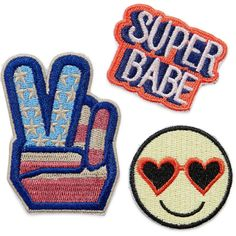 Bag Sticker Patches (53 MXN) ❤ liked on Polyvore featuring accessories, fillers, patches, decor, pins, detail and embellishment