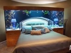 Amazing aquarium that serves as an overhead bed frame!  I will want stay in bed all  day!    Tune in Saturdays @ 9pm   Watch more Tanked videos at http://animal.discovery.com/tv/tanked/#mkcpgn=ytapl1
