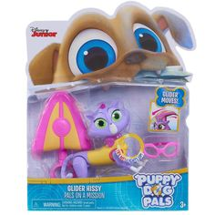 Disney Junior Puppy Dog Light-Up Pals On a Mission Figure - Glider Hissy