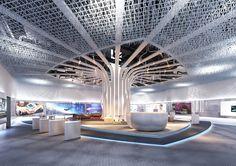 전시실 on Behance Museum Exhibition Design, Exhibition Display, Exhibition Space, Design Museum, Stand Design, Booth Design, Architecture Details, Interior Architecture, Lobby Interior