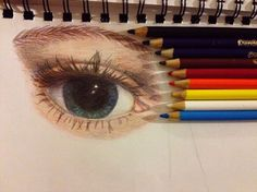 Could have fit in with Skchallenges: Eye. Crayola Colored Pencil