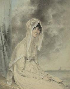 John Downman, Portrait of Jane Douce, 1804-1806 (The British Museum, London)