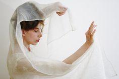White bridal wrap White bridal shawl Sheer by WildRoseAndSparrow