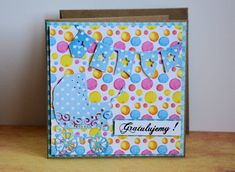 Kartka z okazji narodzin dziecka - Gratulujemy! Communion, New Baby Products, Congratulations, Envelope, Cards, Handmade, Scrapbooking, Painting, Etsy