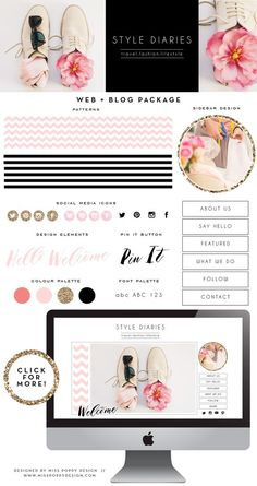 STYLE DIARIES- Web and Blog Kit / Package *INSTANT DOWNLOAD*