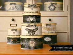 Vintage Boxen ❧ PAPILLON NOIR ❧ Handarbeit!