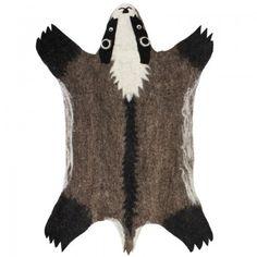 Badger Felt Rug | Sew Heart Felt