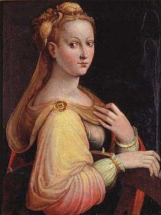 Barbara Longhi. Porträtt