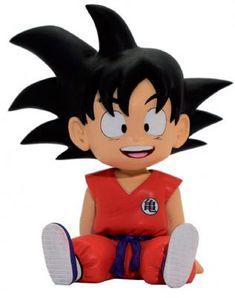 Figure - coin Bank of Son Goku from Dragon Ball anime series. Figure made of PVC material, 15 cm tall, by Plastoy. Chibi Goku, Goku Dragon, Manga Dragon, Kid Goku, Sanrio Hello Kitty, Dbz, Dragonball Z Cake, Hades, Pikachu
