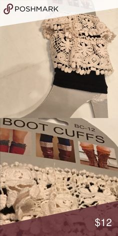 Boot Cuffs cute and funky NEW So cute and funky and did I say fun!  One size! Boot Cuffs Shoes
