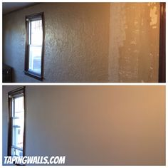Skim Coat Job This Wall Had What S Called Knocked Down Texture