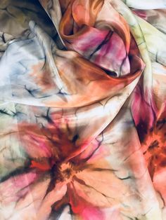 Tie Dye Techniques, Painting Techniques, Ice Tie Dye, Hand Painted Dress, Tie Dye Crafts, Silk Art, Ice Dyeing, Scarf Dress, Embroidery Suits