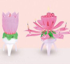 The Lotus Spinning Singing Birthday Candles Can Spin With Custom Music Please Prepare Your