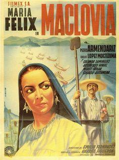 """María Félix (born María de los Ángeles Félix Güereña; born 8 April 1914 – 8 April 2002); """"Maclovia"""" (1948)"""