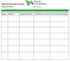 The Plant Growth Chart Template Contains Room For Up To Seven Users