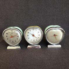Three hearts. Vintage clock trio.