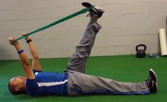 """The Manual Therapist: Theraband CLX Pattern Assisted Active Straight Leg Raise for """"Tight"""" Hamstrings"""
