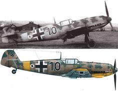 A Messerschmitt Bf 109 E-4/B (W.Nr. 2060) of 2.(J)/LG 2 photographed at Mizil, Rumania, in June 1941. This aircraft was lost with its pilot, Hans GUSE, on 10 July 1941 Source : Avions n°190