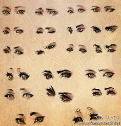 Different eye styles