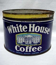 Advertising Coffee Tin White House Coffee