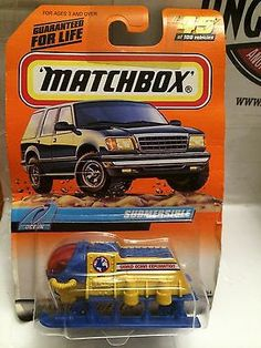 Matchbox Car - Submersible This item is NOT in Mint Condition and is in no way being described as Mint or even Near Mint. Our toys have not always lead the perfect life, nor have they been treated as