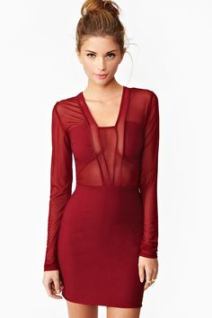 """just bought this """"Siren Mesh Dress."""" Hope there's not a nip slip."""