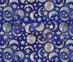crystal moon fabric by kociara on Spoonflower - custom fabric