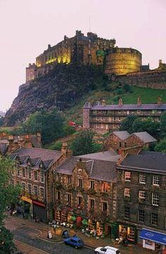 Grassmarket district below Edinburgh Castle Where mom & I stayed in Aug 2010. Unforgettable!