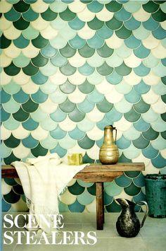 Mermaid Scale Bathroom Tile!!! So pretty!