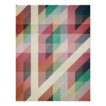 Abstract Geometric Lines Poster | Zazzle