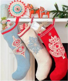 Self sewn stockings from Country Living UK (Dec 2011)