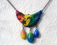 Raimbow ethnic necklace