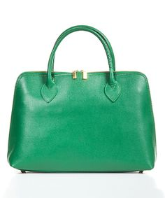 Look at this Green Crosshatch Leather Satchel on #zulily today!