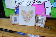Button heart and frames.