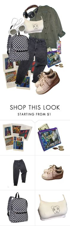 """Art"" by sunshinebbyyy ❤ liked on Polyvore featuring Levi's, NIKE, Everest and Acne Studios"