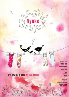 geboortekaart Nynke voor