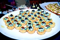 """Another one of our delicious hors d'oeuvres at the Annual THAT party Spana""""cup""""itas- Mediterranean Spinach filled Filo Cups Chef Work, Spinach, Catering, Sushi, Cups, Menu, Drinks, Breakfast, Ethnic Recipes"""