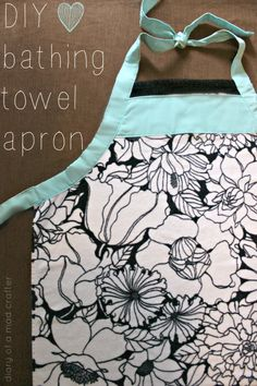 Baby bath apron tutorial.