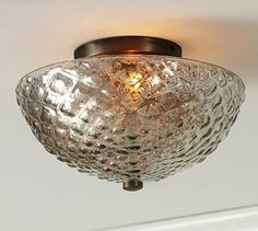 Hobnail Mercury Glass Flushmount #potterybarn