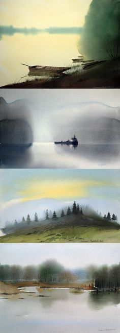 Все в тающей дымке ... Сербский художник Branislav Markovi Umbra