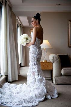 Wedding Dress  J'aton Couture - Terri Biviano's wedding dress. this is so beautiful to me