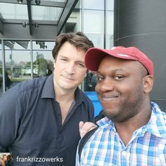 @Regrann from @frankrizzowerks -  Me and Nathan Fillion! #NathanFillion #Cars3 #Castle, #RichardCastle #GuardiansoftheGalaxy #GuardiansoftheGalaxyVol2, #SimonWilliams/#WonderMan (#Marvel) #SavingPrivateRyan #Firefly #Serenity, #MalcolmReynolds #OneLifetoLive #BuffytheVampireSlayer #ModernFamily #Halo3 #Halo5Guardians - #regrann  Thanks for sharing !👍👌