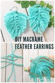 DIY Macrame Feather Earrings - Crafting on the Fly