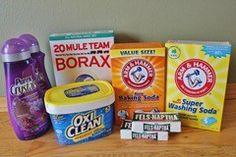 Powdered Laundry Detergent - I made a batch similar to this - no washing soda/double oxi