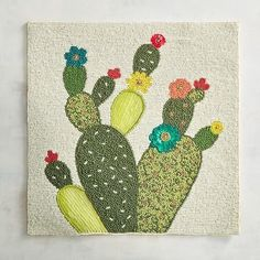 Cactus Embroidery, Embroidery Applique, Easy Quilts, Mini Quilts, Sewing Crafts, Sewing Projects, Southwest Quilts, Applique Cushions, Hawaiian Quilts