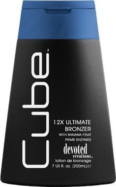 Devoted Creations Cube 12X Ultimate Bronzer Tanning Lotion 7 oz by Devoted Creations. $13.46. Ultimate Bronzing Lotion. Cube delivers the most ultimate bronzing experience for those looking for that perfect dark bronze tan! Infused with banana fruit prime to give your skin the ideal moisturization for a great tan. 12X Bronzers.