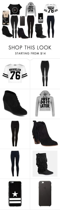 """""""want for christmas"""" by nylaalvarez on Polyvore featuring Boohoo, Topshop, Arizona, WearAll, Steve Madden, NIKE, Avenue, Givenchy and Casetify"""