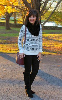 Today I'm sharing a sweater and coat that would be perfect for a casual Christmas get together.