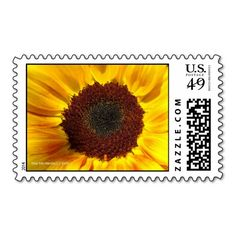 Sunflower Sun - Postage Stamps | Photography by Martie Hevia http://www.zazzle.com/mhevia*/