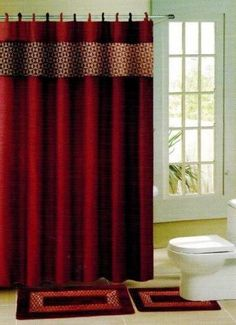 Coral Fleece Carpet Bathroom UShaped Memory Foam Bath Mats Rug - Burgundy bath mat for bathroom decorating ideas